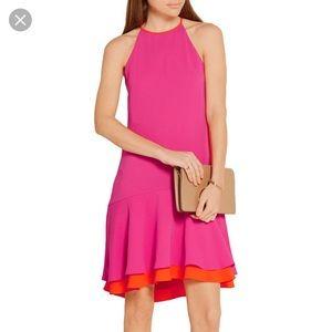 Diane von Furstenberg Kera crepe drop waist dress